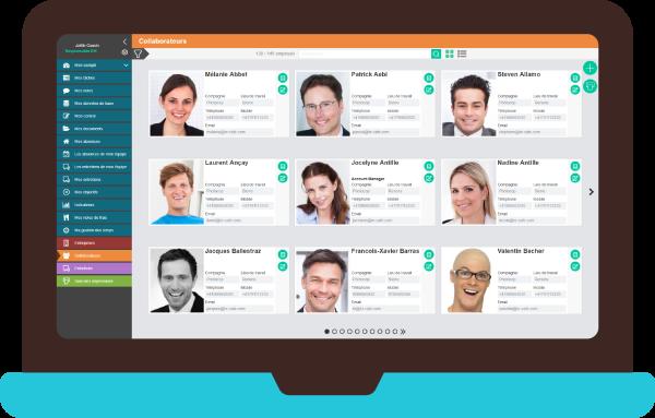 image présentant un écran de la solution HR Café